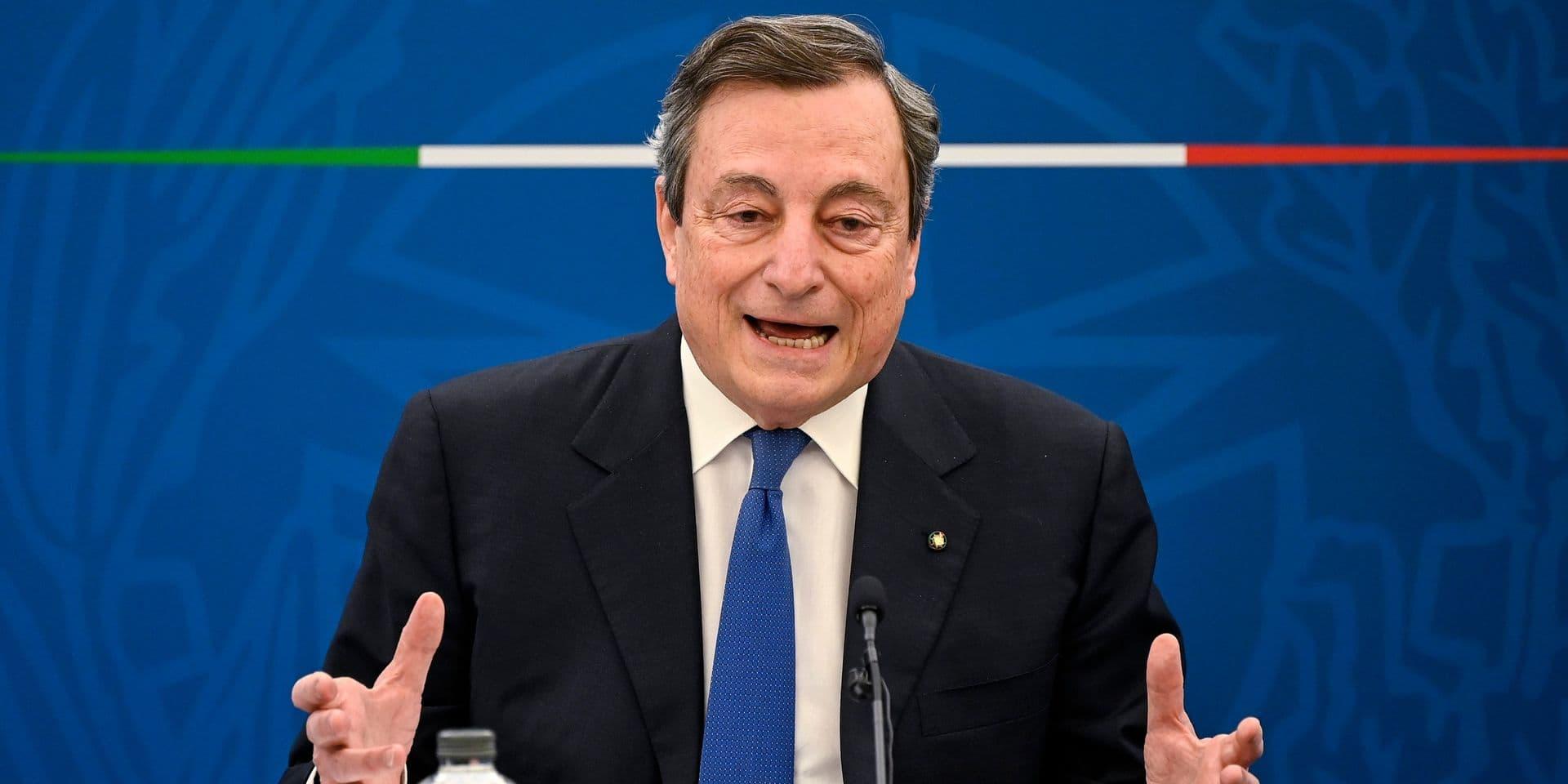 """Sofagate: Mario Draghi qualifie le président turc Erdogan de """"dictateur"""""""