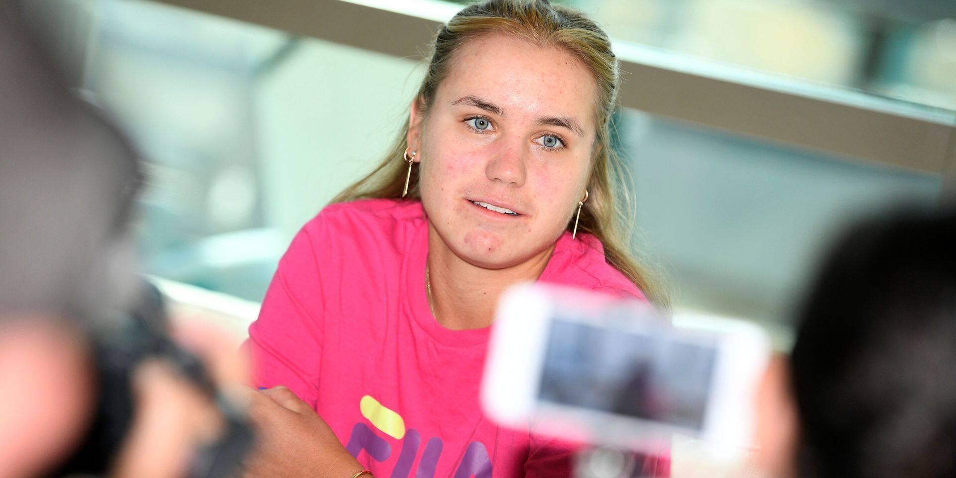 """Kenin, lauréate de l'Open d'Australie: """"C'est vraiment super que Kim soit de retour"""""""