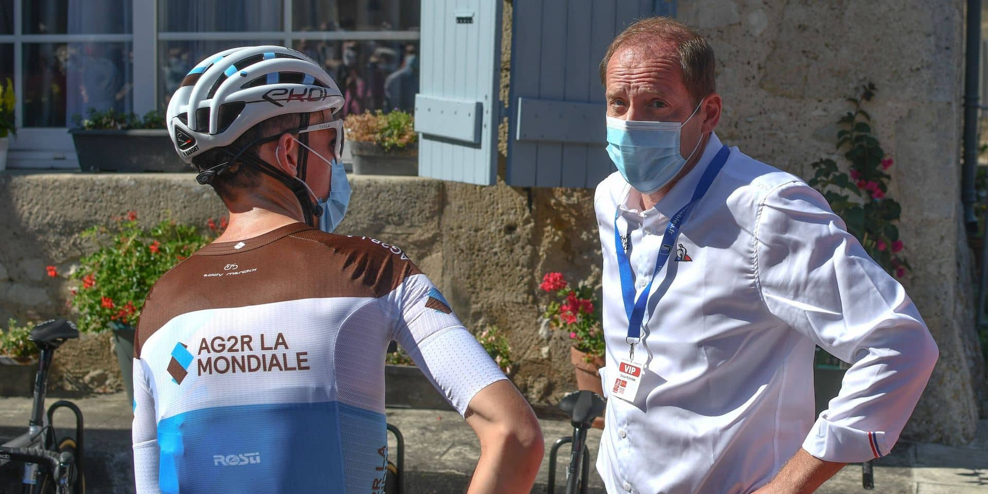 04-08-2020 La Route D occitanie; Tappa 04 Lectoure - Rocamadour; 2020, Ag2r La Mondiale; Bardet, Romain; Prudhomme, Chr