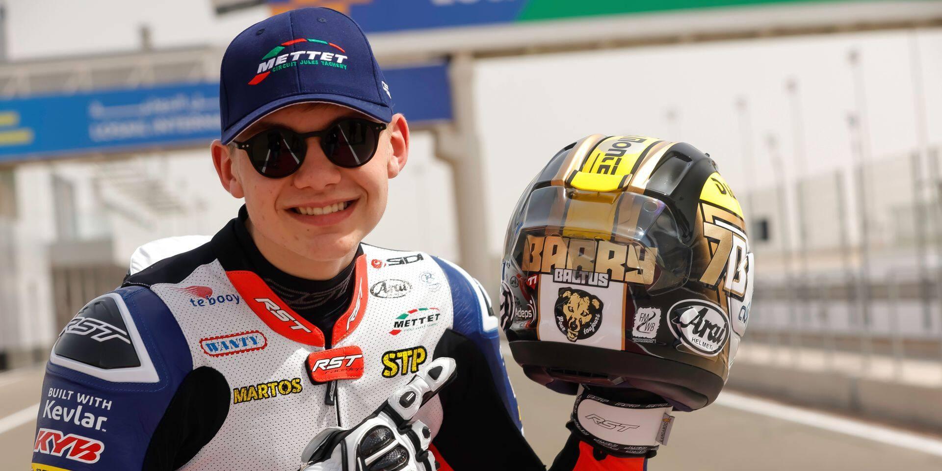 """Barry Baltus revient de loin en Moto2 : """"En septembre, je pensais que c'était fini pour moi"""""""
