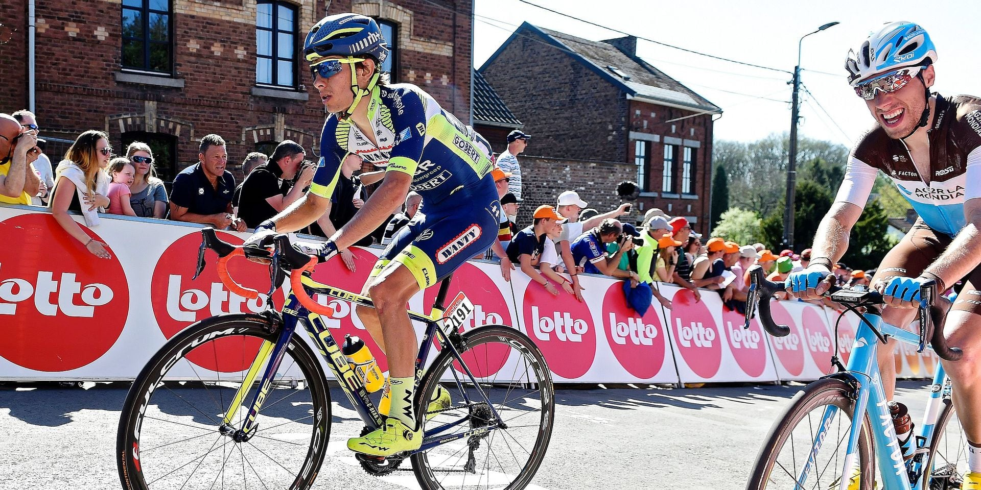 HUY, BELGIUM - APRIL 18 : MARTIN Guillaume of Wanty - Groupe Gobert during the 82th edition of the UCI World Tour Ardennes Classics cycling race Fleche Wallonne with start in Seraing and finish in Huy on April 18, 2018 in Huy, Belgium, 18/04/2018 ( Motordriver Kenny Verfaillie - Photo by Vincent Kalut / Photonews