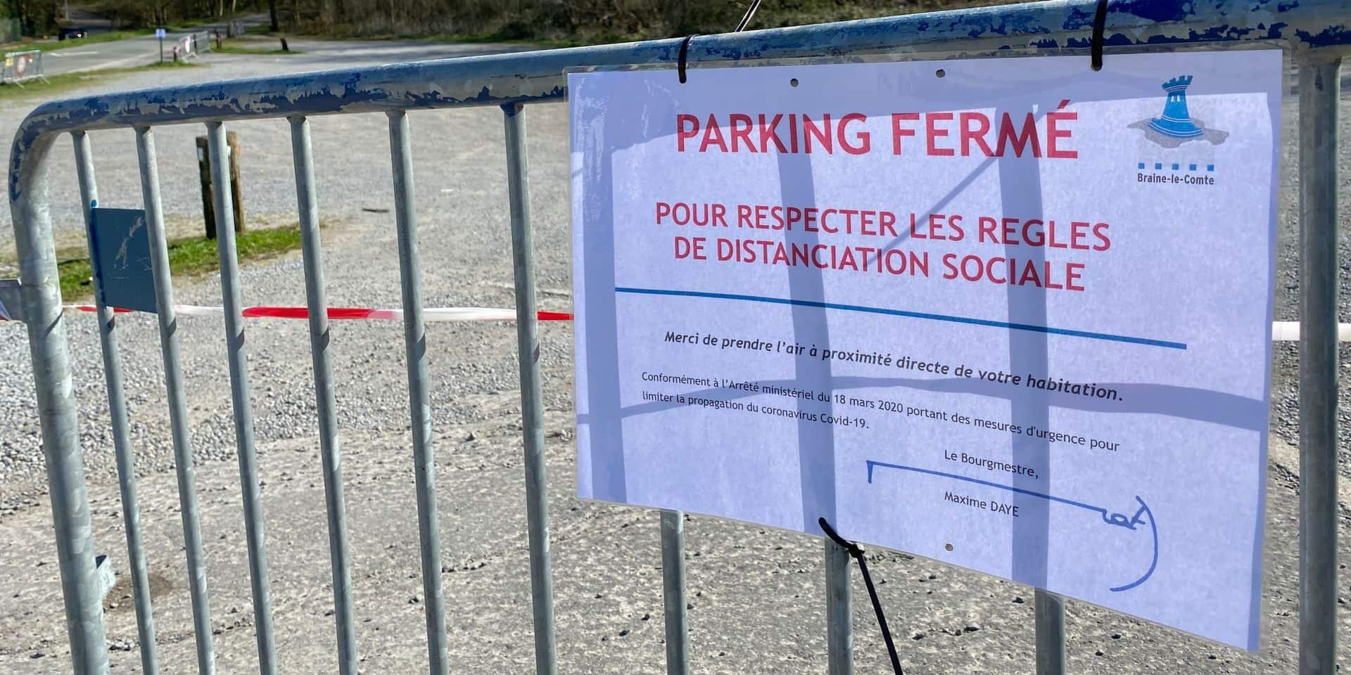 """Braine-le-Comte: des parkings fermés pour éviter les promeneurs """"extérieurs"""""""