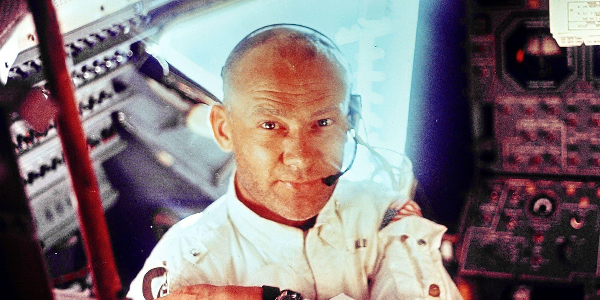 """Buzz Aldrin, astronaute de légende, à La DH : """"Comment j'ai servi la messe, avec vin et hostie, sur la lune"""""""