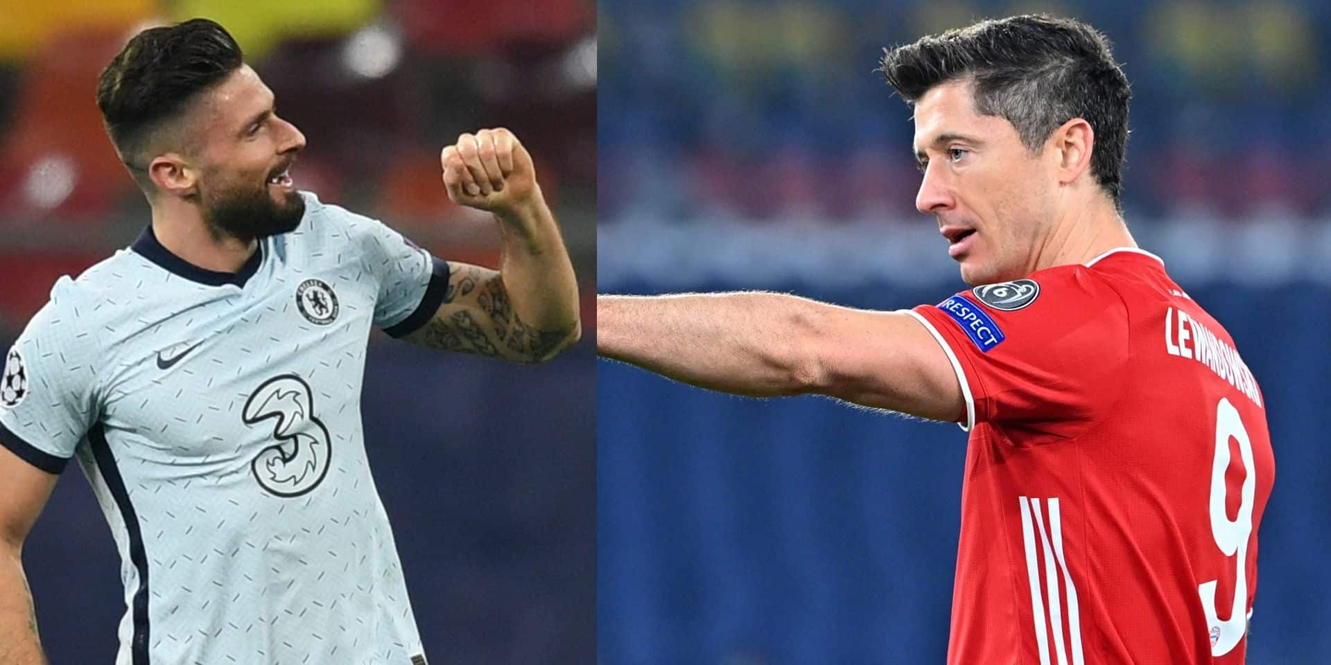 Ligue des Champions: Lewandowski s'invite à la table de Messi et Ronaldo, Giroud parmi les meilleurs