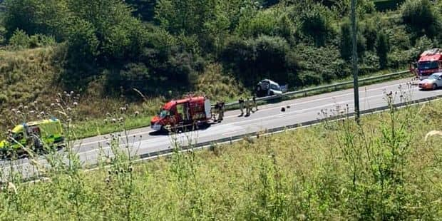 Aywaille : accident sur l'E25