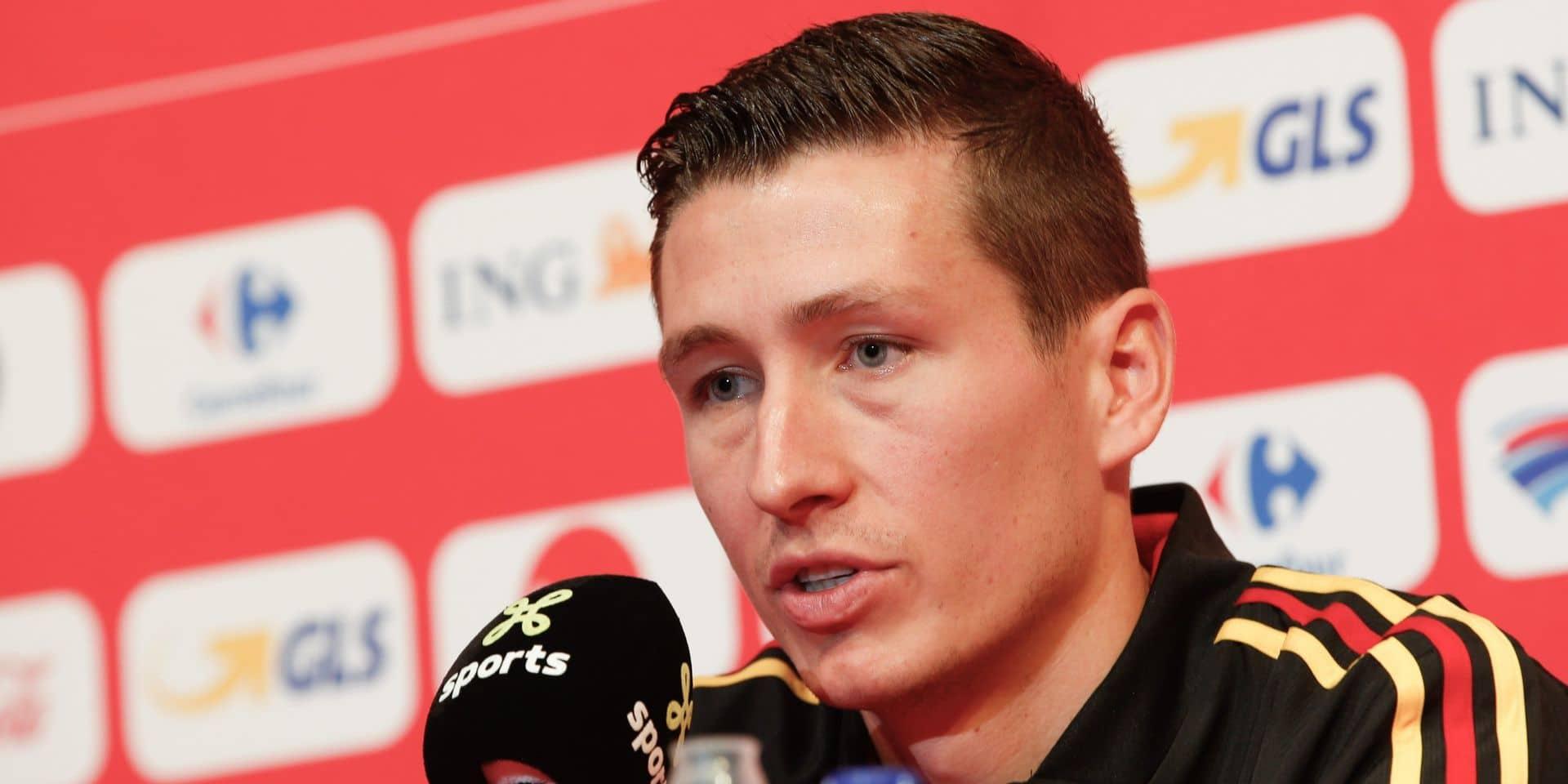 """Hans Vanaken espère jouer contre Saint-Marin, """"mais la concurrence est énorme"""""""