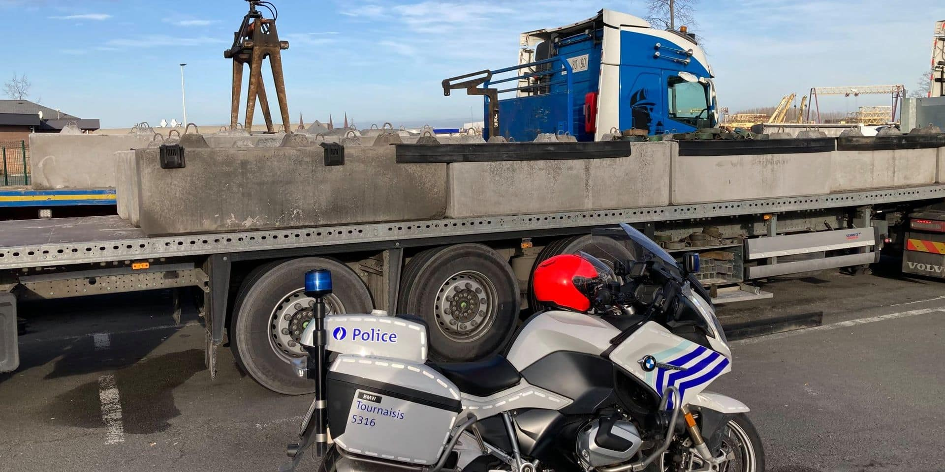 Les poids lourds ont été contrôlés à Tournai