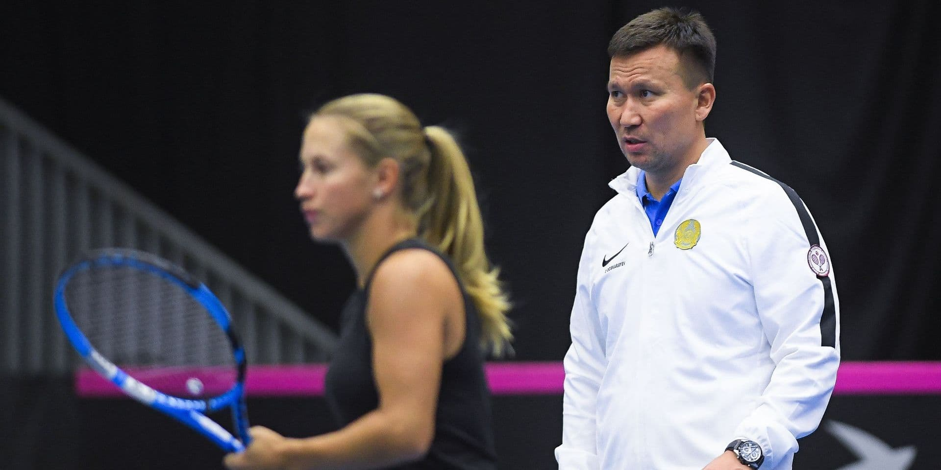 "Le capitaine du Kazakhstan reste prudent : ""On verra jeudi si Clijsters joue"""