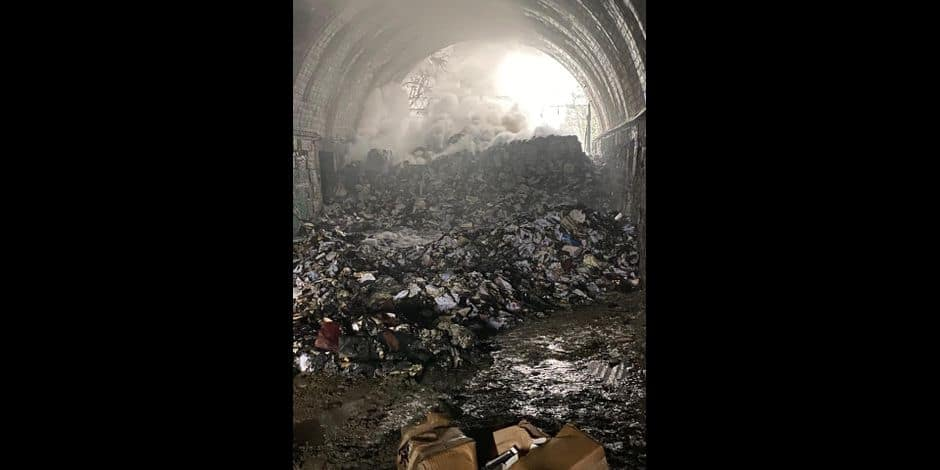 Limbourg : incendie dans le tunnel de l'ancienne gare