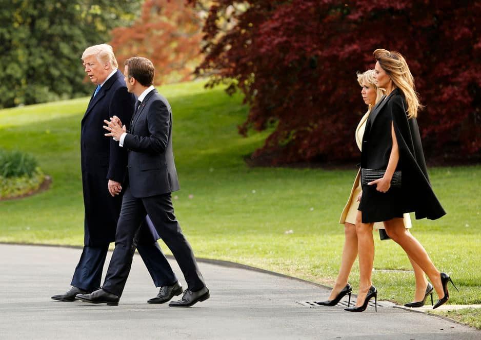 Dans les jardins de la Maison Blanche