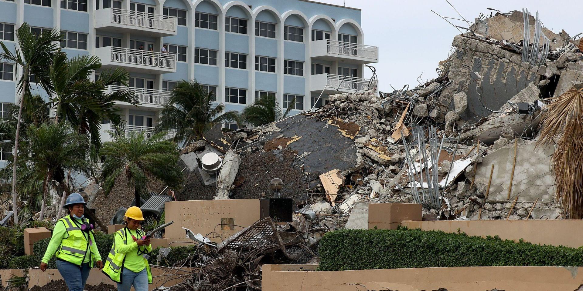 Effondrement d'un immeuble près de Miami Beach: le bilan passe à 78 morts