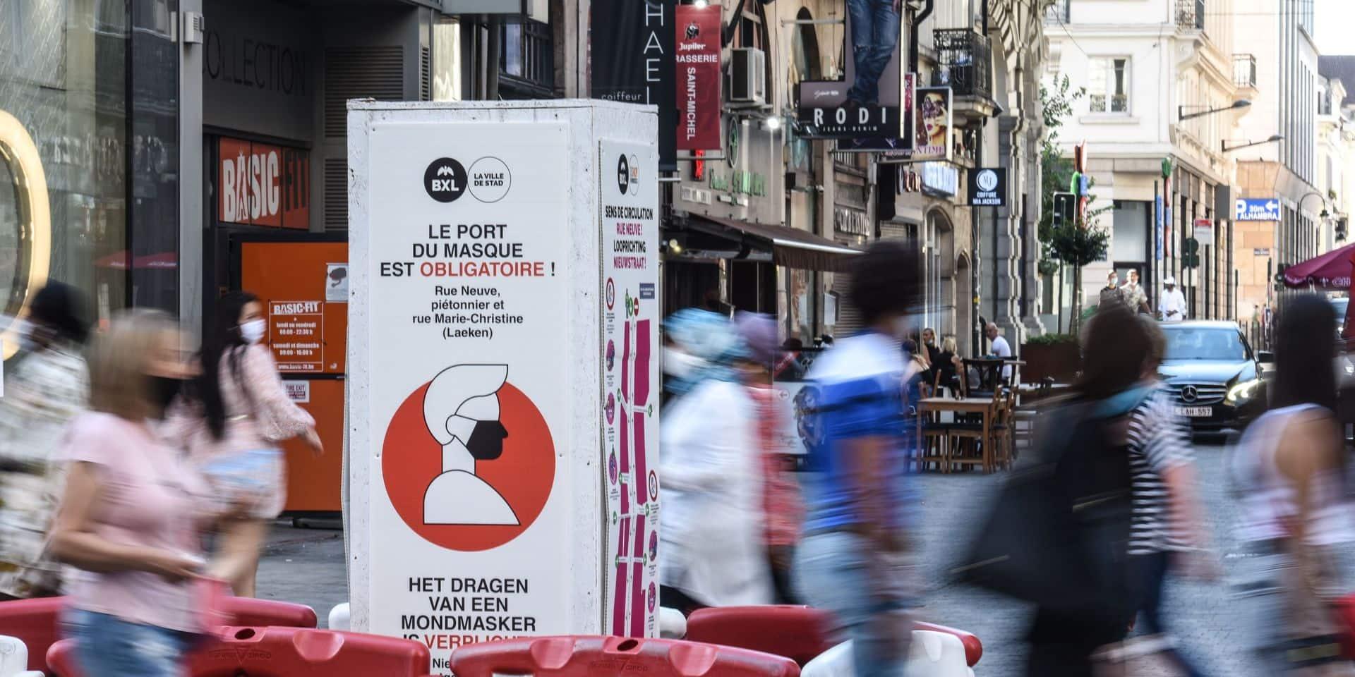 Voici les lieux où le masque sera encore obligatoire en Région bruxelloise