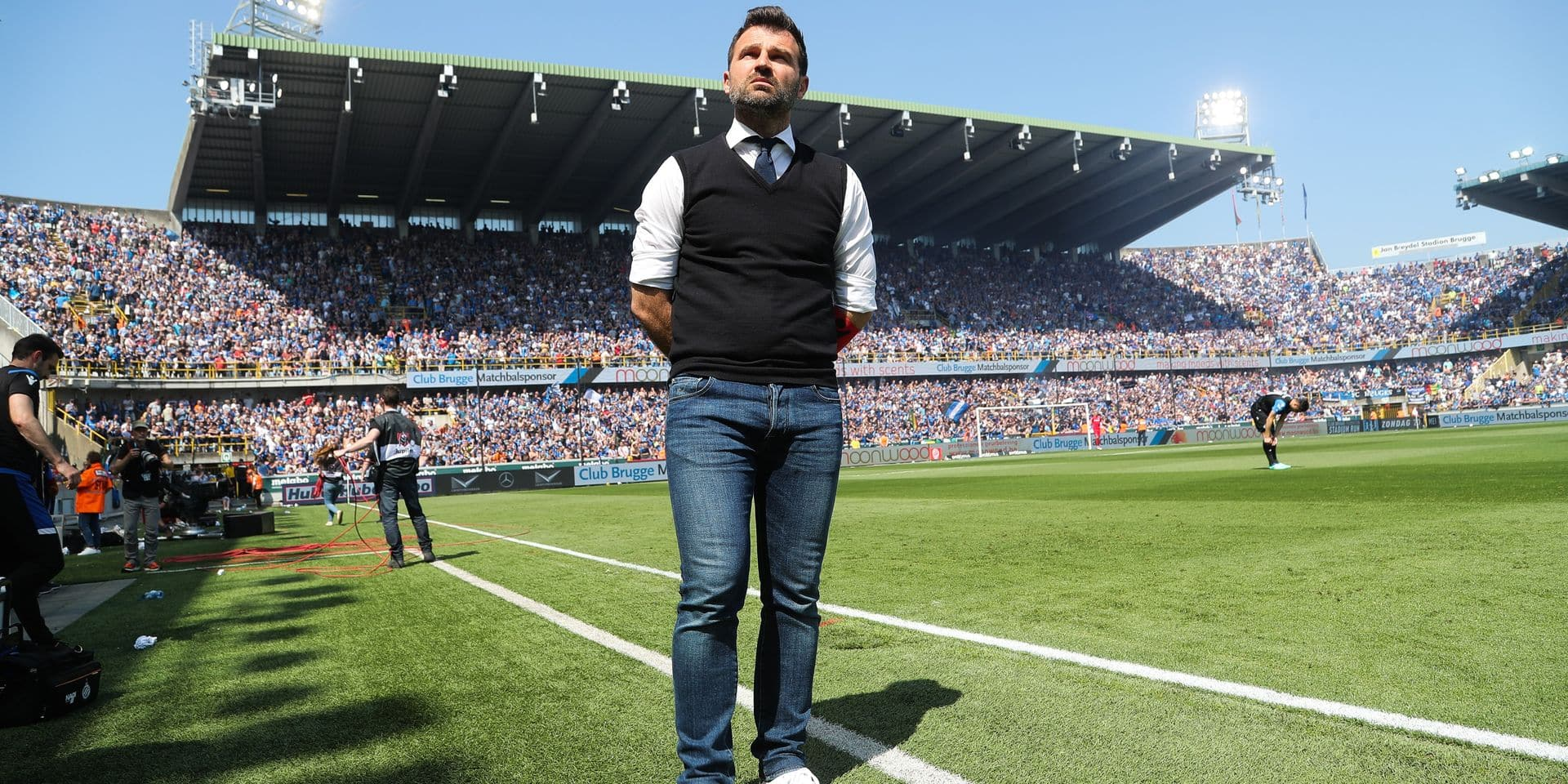 Club Brugge's head coach Ivan Leko pictured during the Jupiler Pro League match between Club Brugge KV and RSC Anderlecht, in Brugge, Sunday 06 May 2018, on day seven of the Play-Off 1 of the Belgian soccer championship. BELGA PHOTO BRUNO FAHY