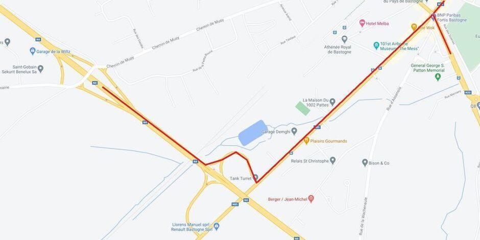 Travaux à Bastogne : la route de Marche à sens unique