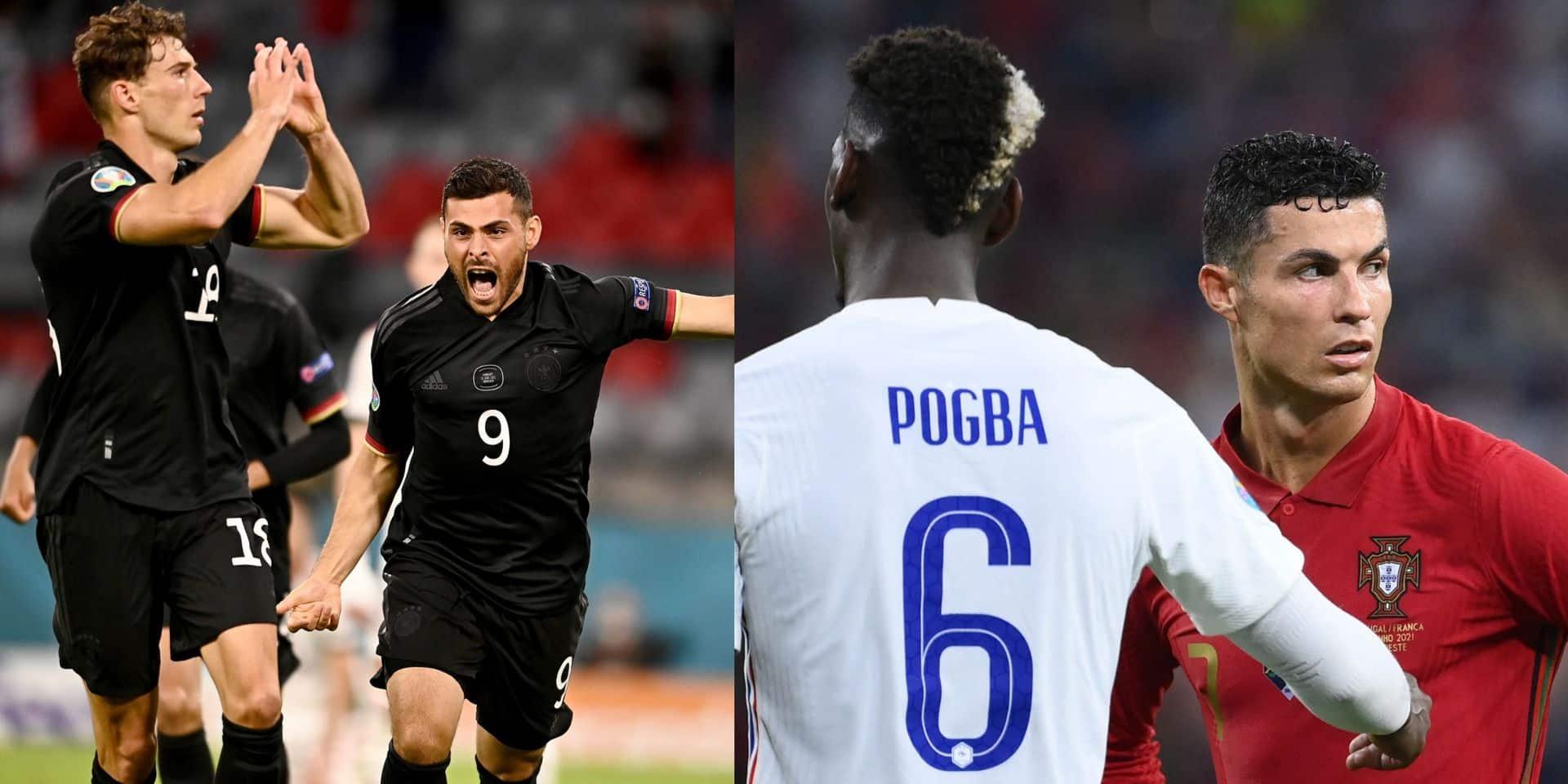 La France et le Portugal se neutralisent au terme d'un match fou, l'Allemagne s'en sort de justesse face à la Hongrie
