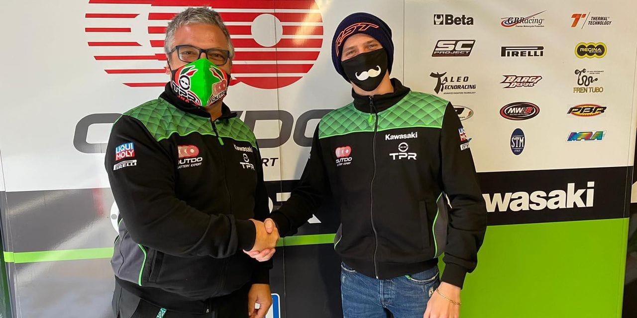 Loris Cresson en World Superbike sur Kawasaki à Estoril!