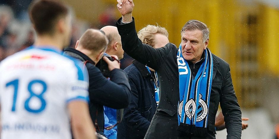 Club's former player Jan Ceulemans pictured at the start of the Jupiler Pro League match between Club Brugge KV and KRC Genk, in Brugge, Monday 02 April 2018, on day one of the Play-Off 1 of the Belgian soccer championship. BELGA PHOTO BRUNO FAHY