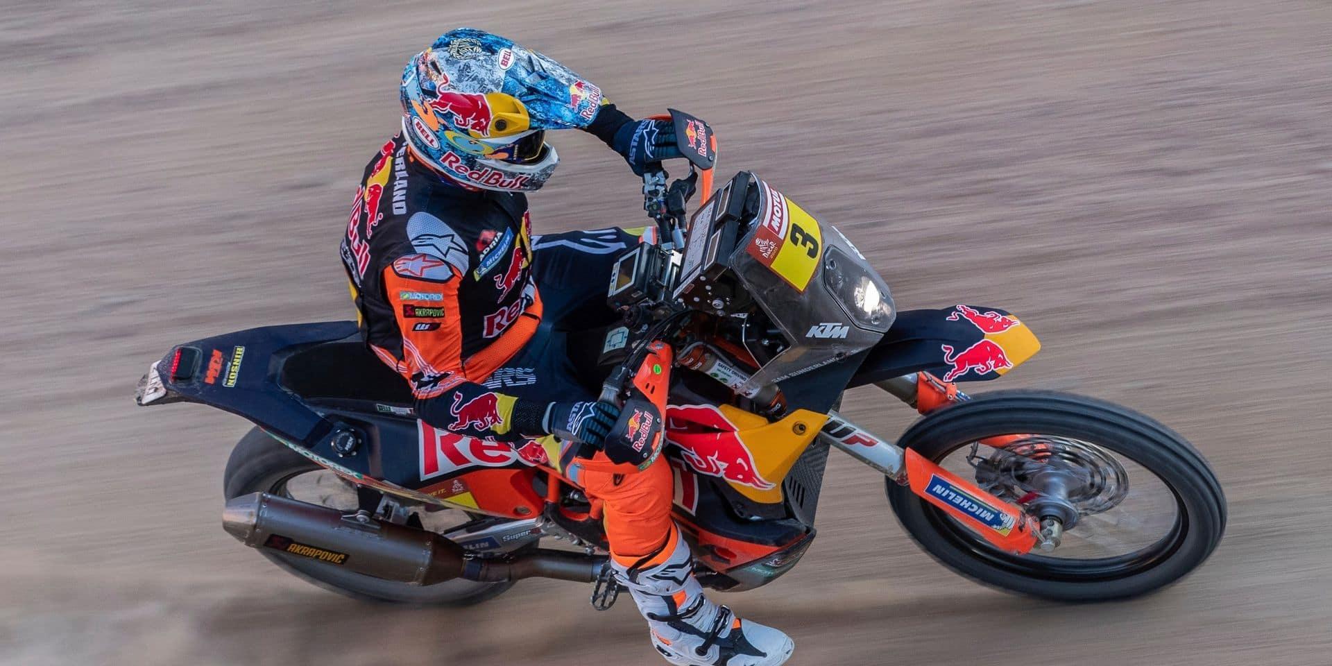 Dakar: Toby Price remporte la 5e étape en motos, Sunderland quitte la course