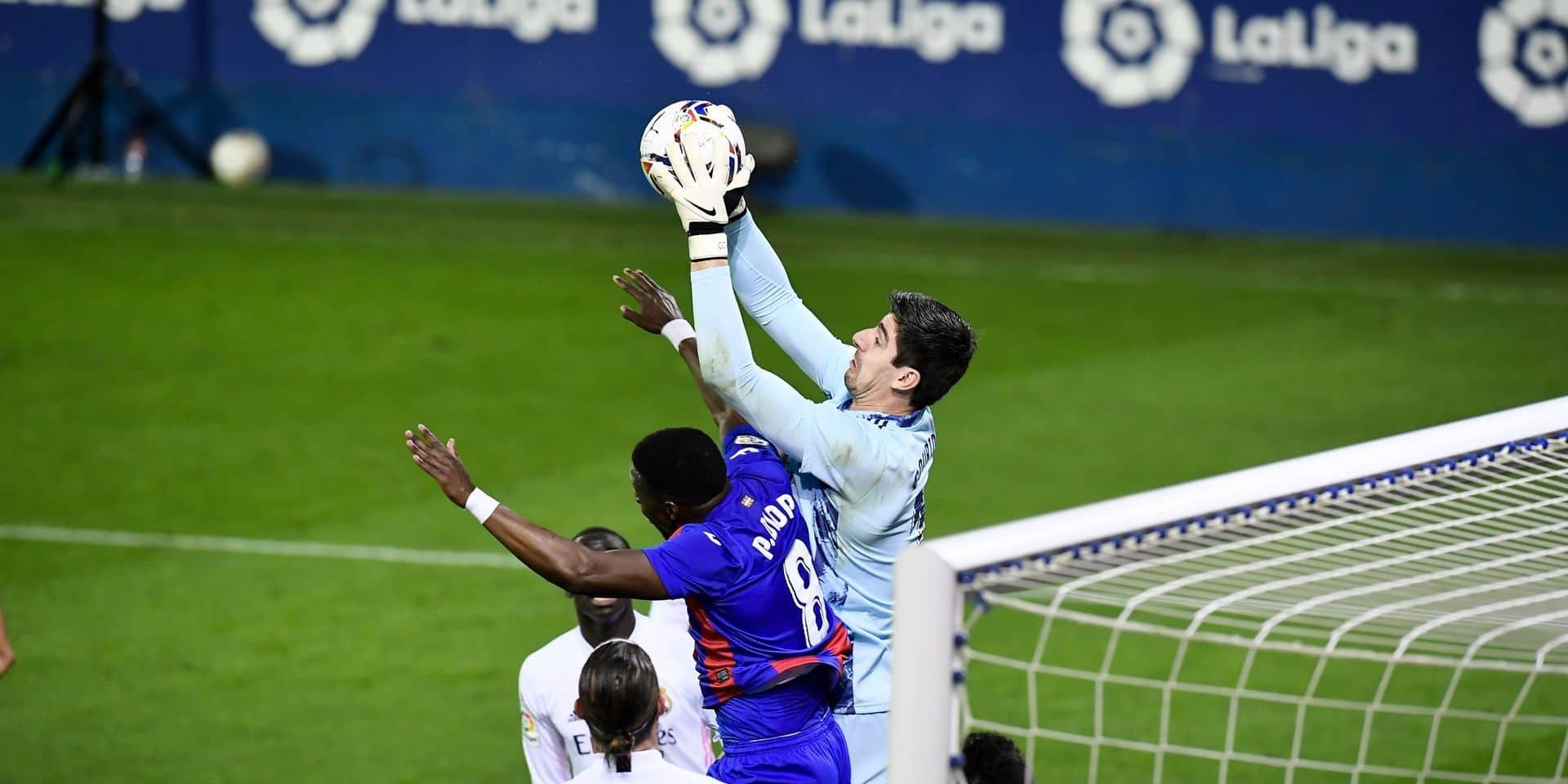 Les Belges à l'étranger: Courtois et le Real Madrid battent Eibar et rejoignent l'Atletico en tête de la Liga