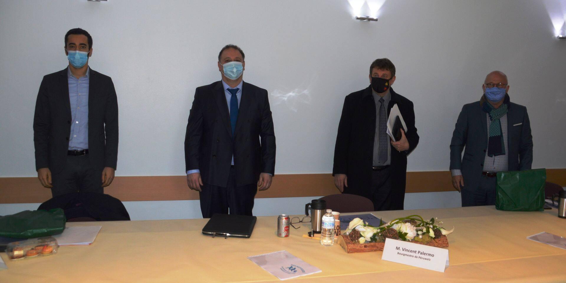 Le secrétaire d'Etat et les représentants politiques de Wapi se sont rencontrés à Péruwelz.