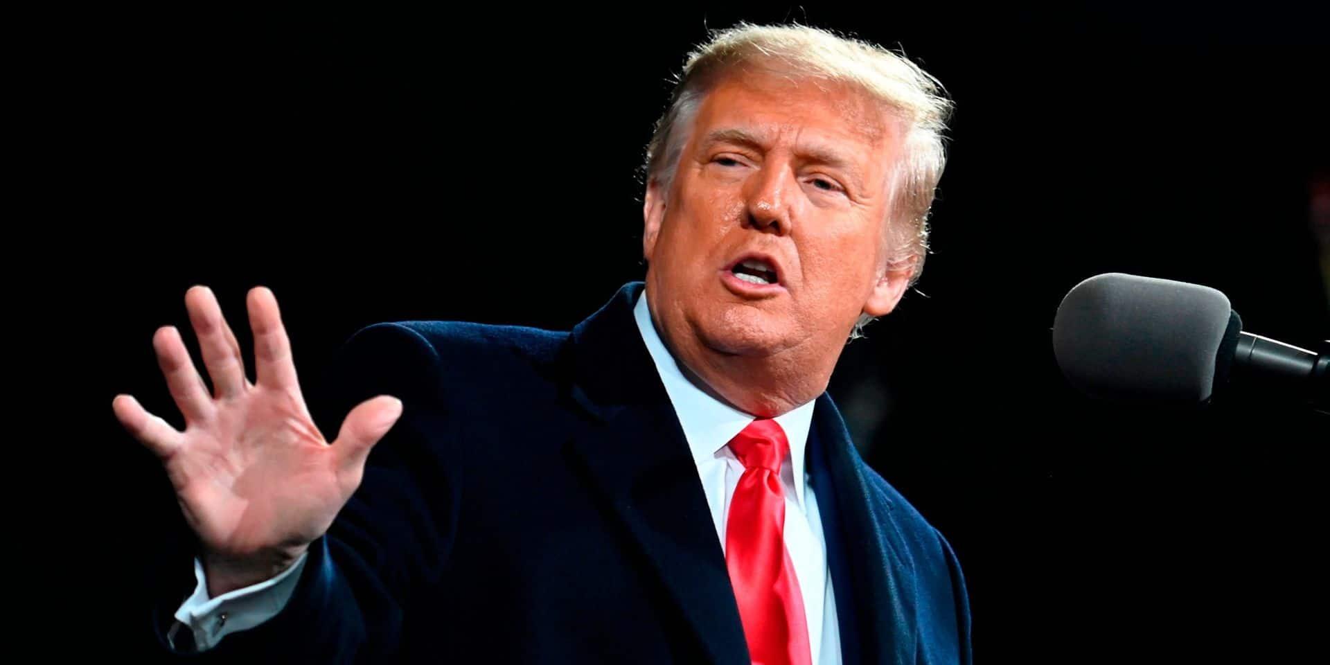 """Le message de Donald Trump à ses partisans: """"On se voit à Washington, le 6 janvier. Ne manquez pas ça"""""""
