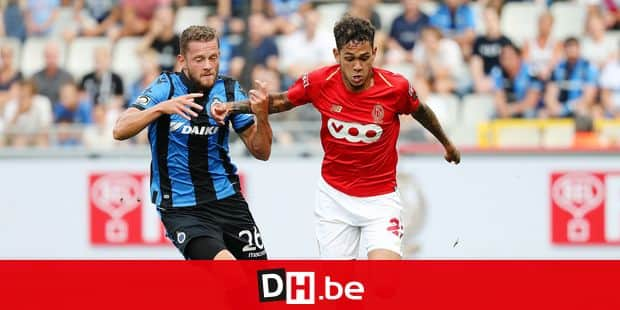 Club's Mats Rits and Standard's Junior Edmilson fight for the ball during a soccer game between Club Brugge and Standard de Liege, the supercup match between the respective champion of the Jupiler Pro League and the Belgian cup winner, Sunday 22 July 2018, in Brugge. BELGA PHOTO VIRGINIE LEFOUR