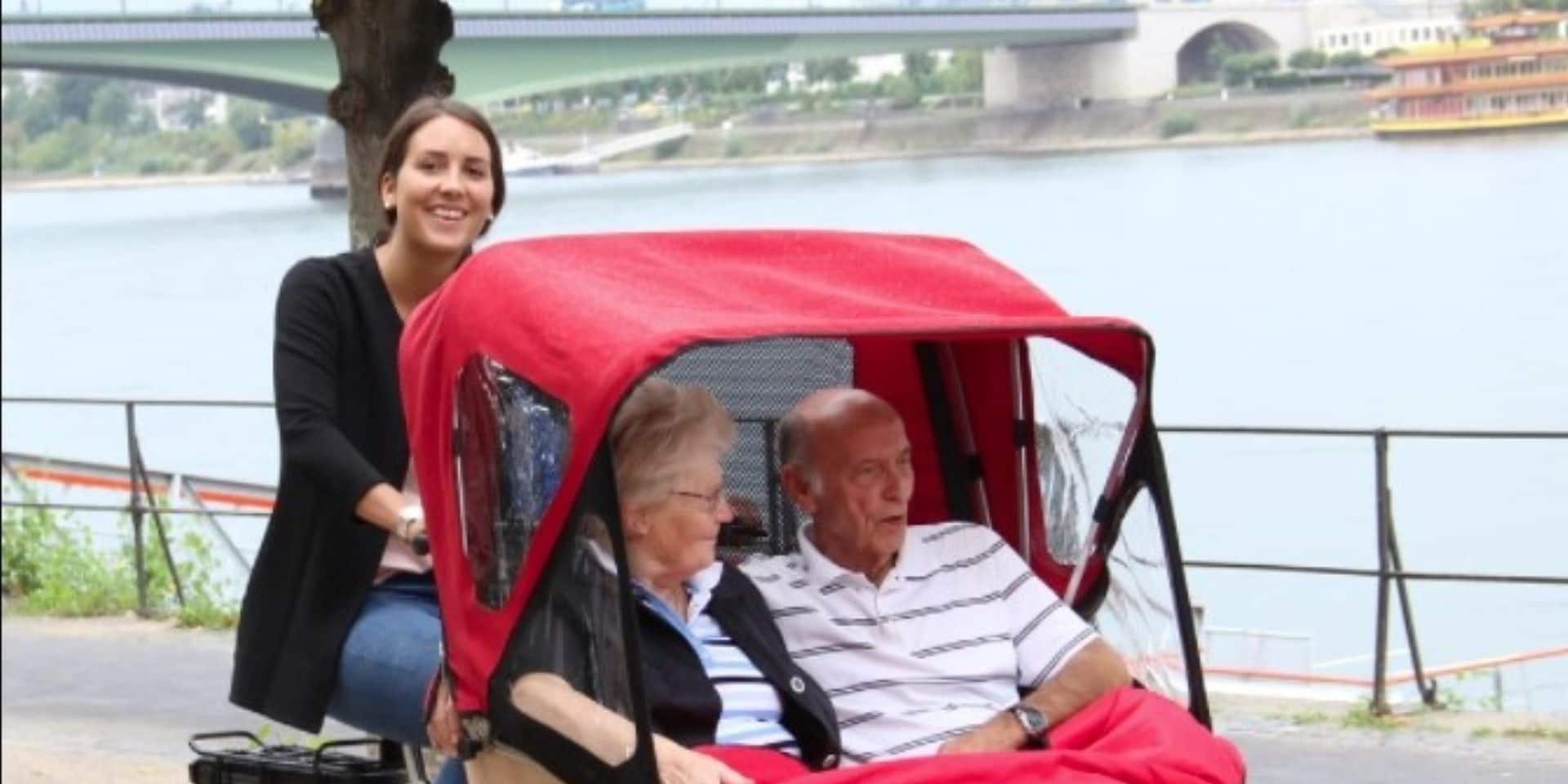 Des balades en triporteur pour les aînés !