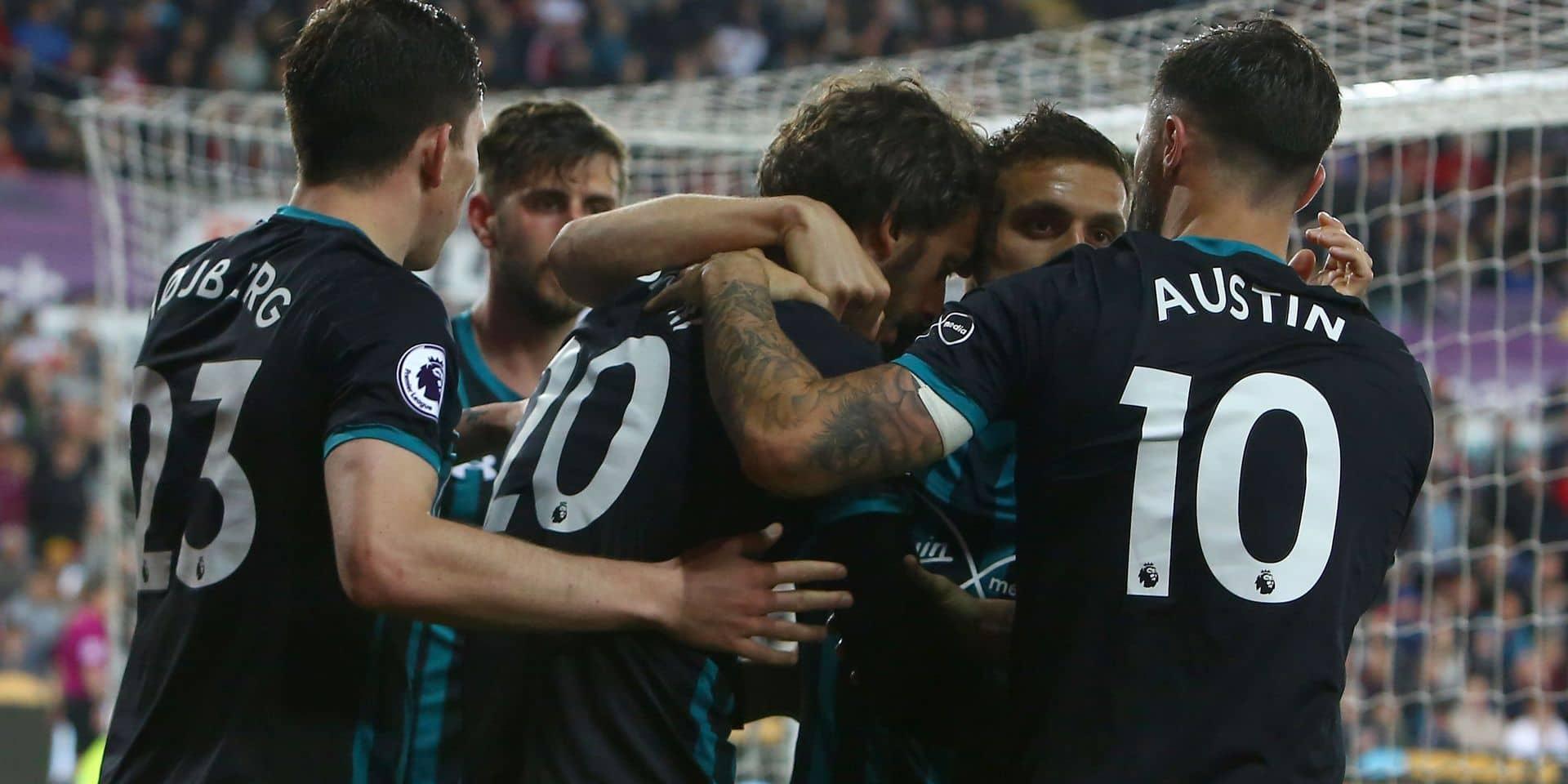 Les Belges à l'étranger: Southampton bat Swansea et condamne le West Bromwich de Nacer Chadli à la relégation