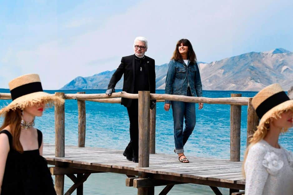 Karl Lagerfeld sur ponton