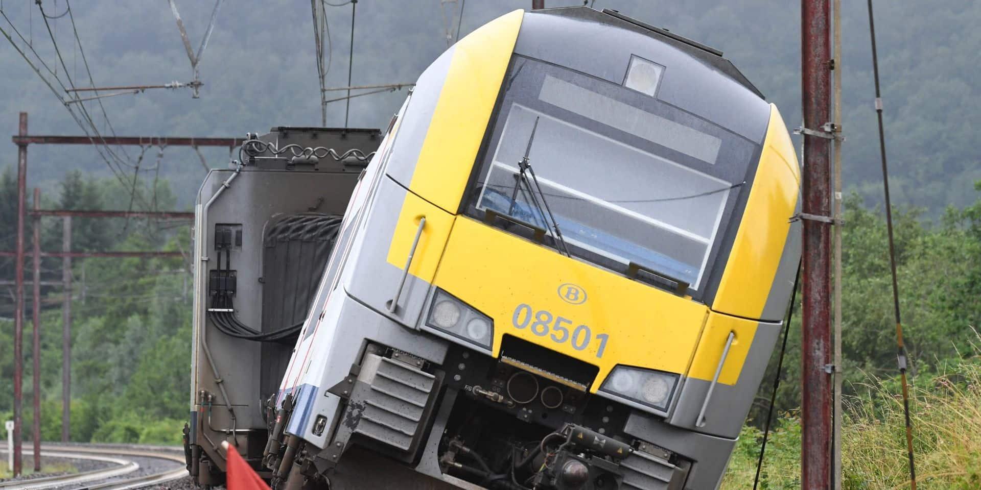 Intempéries: les dommages au réseau ferroviaire estimés entre 40 et 50 millions d'euros