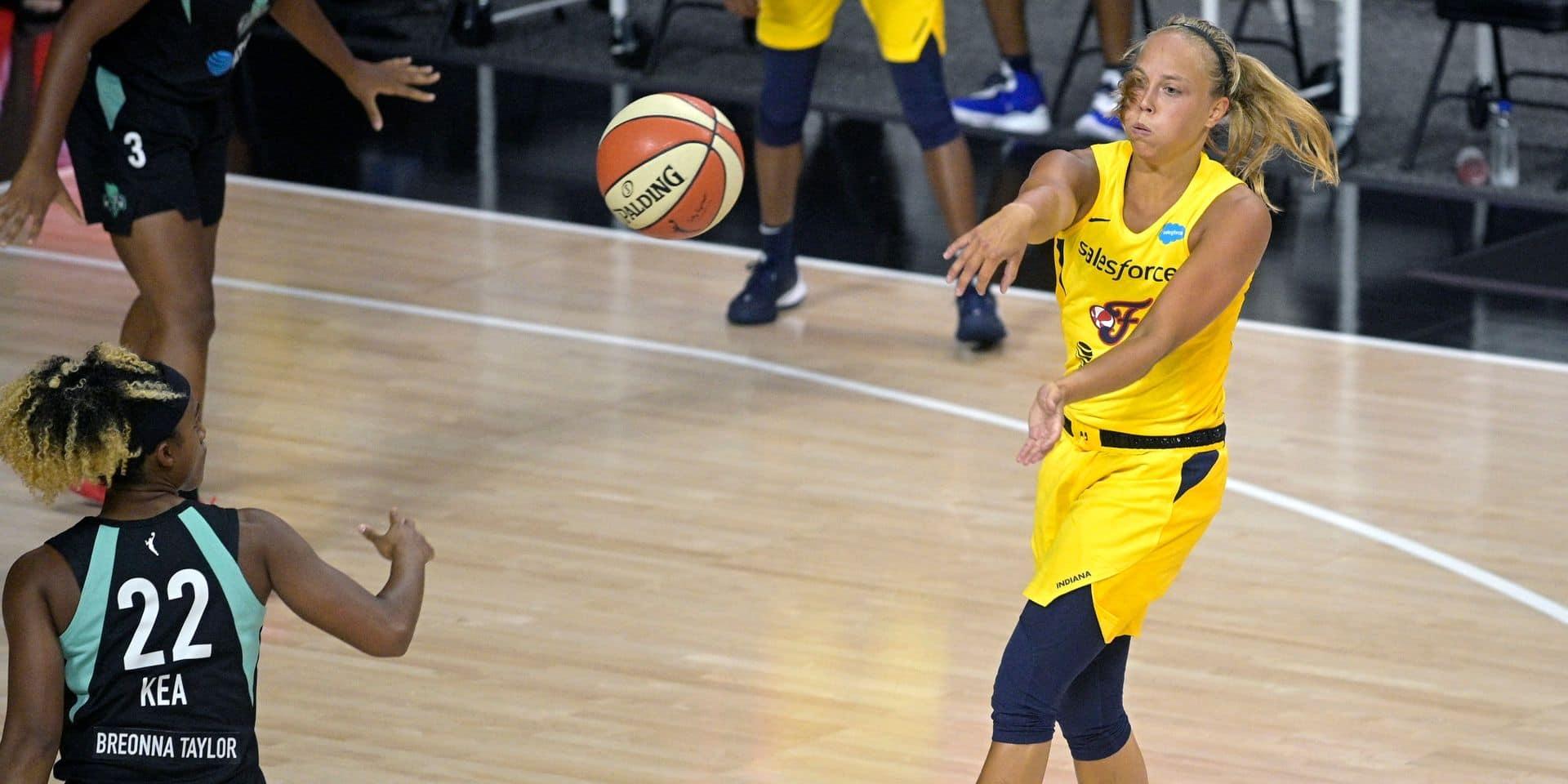 Julie Allemand dans la All-Rookie Team de la WNBA