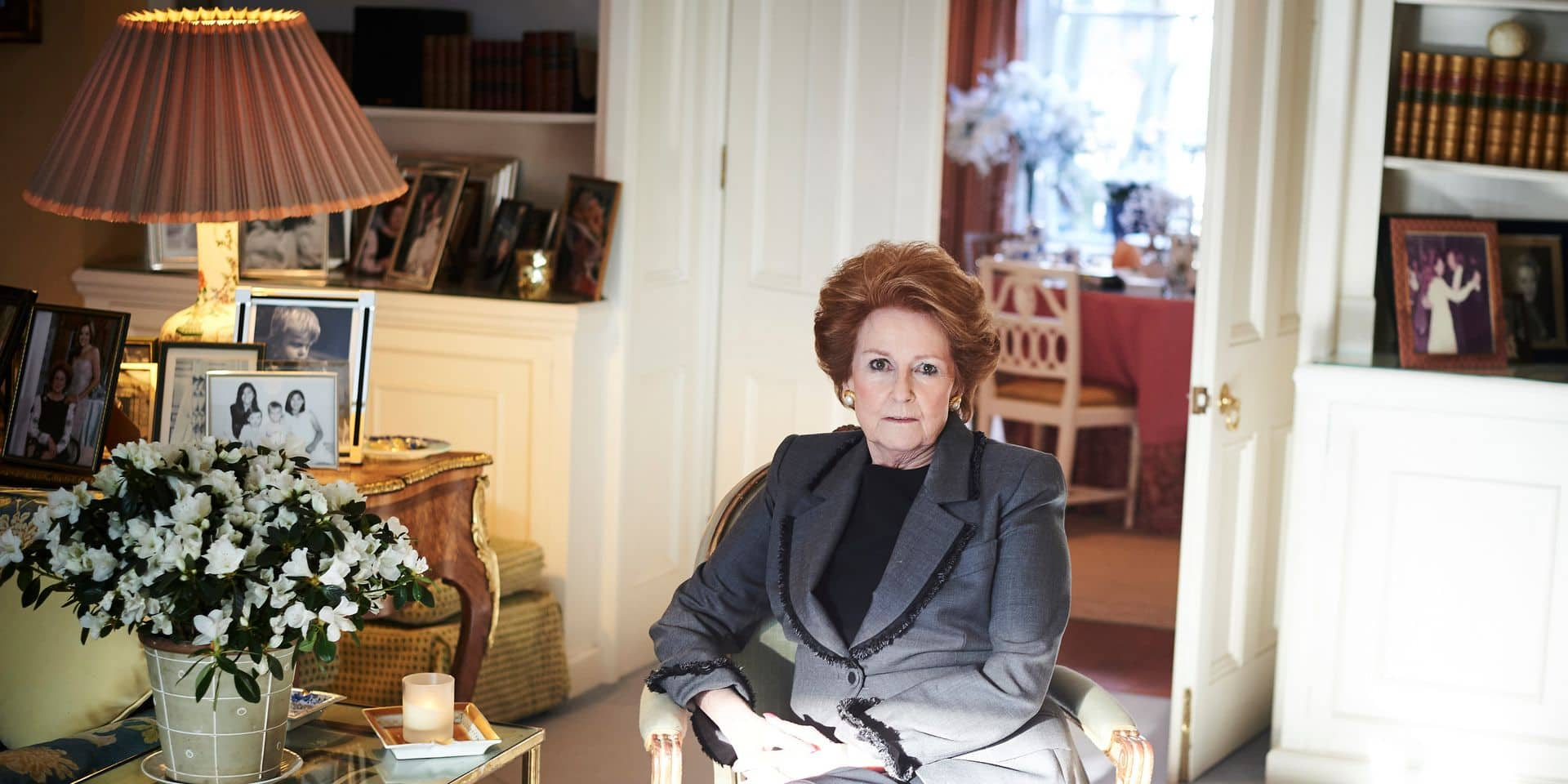 Lady Elizabeth Anson, a cousin of Queen Elizabeth II and for more than 50 years, her party planner, in London.
