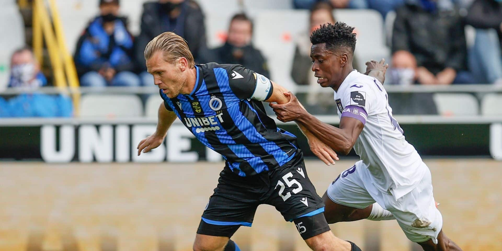 """Vormer et Sambi Lokonga, deux capitaines face à face: """"Notre 15 sur 18 ? Bruges et les autres voudront se venger"""""""