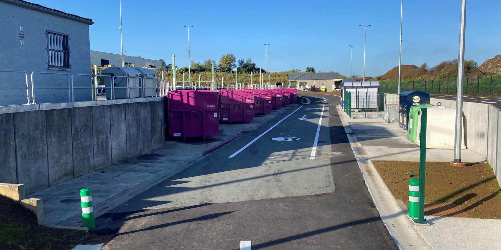 Recyparc rénové à Soignies: de nouveaux déchets y sont acceptés