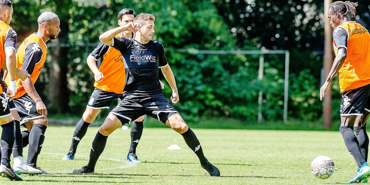 Charleroi's Francisco Javier Martos pictured during a training session at the summer training camp of Jupiler Pro League team Sporting Charleroi, ahead of the 2018-2019 soccer season, in Mierlo, the Netherlands, Monday 09 July 2018. BELGA PHOTO JONAS ROOSENS