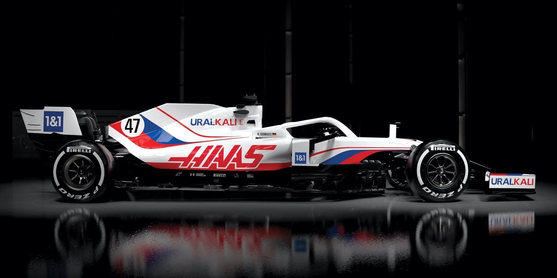 Haas présente la livrée très russe de sa nouvelle VF-21