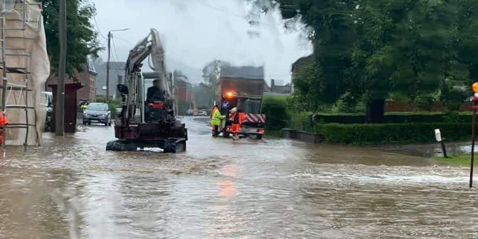Intempéries : de nombreuses voiries inondées en province de Luxembourg