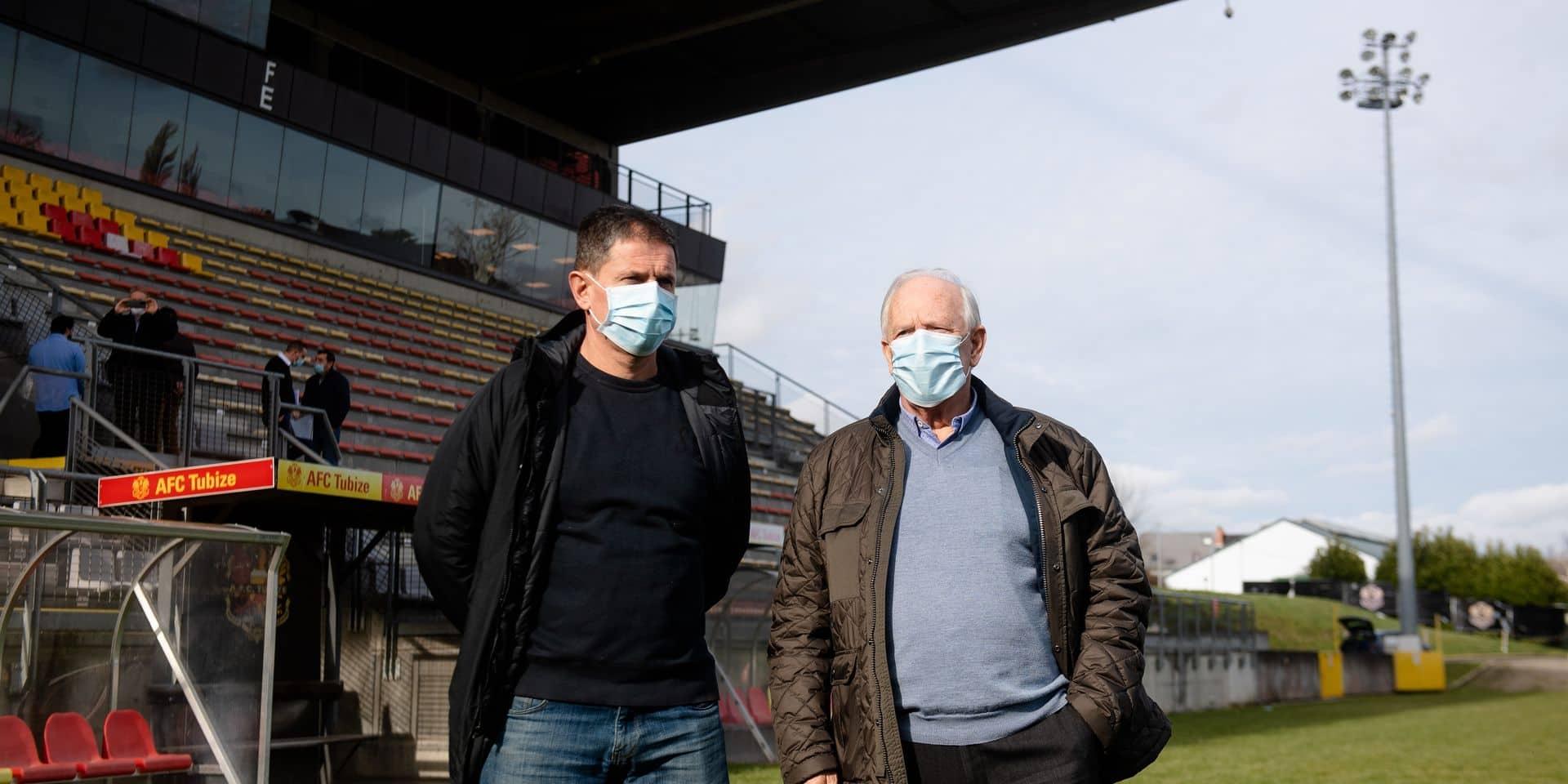Tubize: Thierry Hazard et Raymond Langendries - AFC Tubize et le Stade Brainois oeuvrent a un rapprochement des deux clubs en vue d'une fusion a Tubize le vendredi 19 fevrier 2021