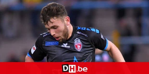 Mouscron's Sebastjan Spahiu pictured in action during the Jupiler Pro League match between Waasland-Beveren and Royal Excel Mouscron, in Beveren, Saturday 05 May 2018, on day seven of the Play-Off 2A of the Belgian soccer championship. BELGA PHOTO LUC CLAESSEN