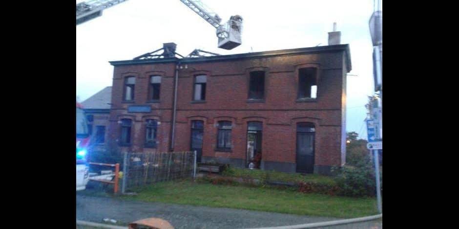 Sorle-Saint-Géry: incendie à l'ancienne gare