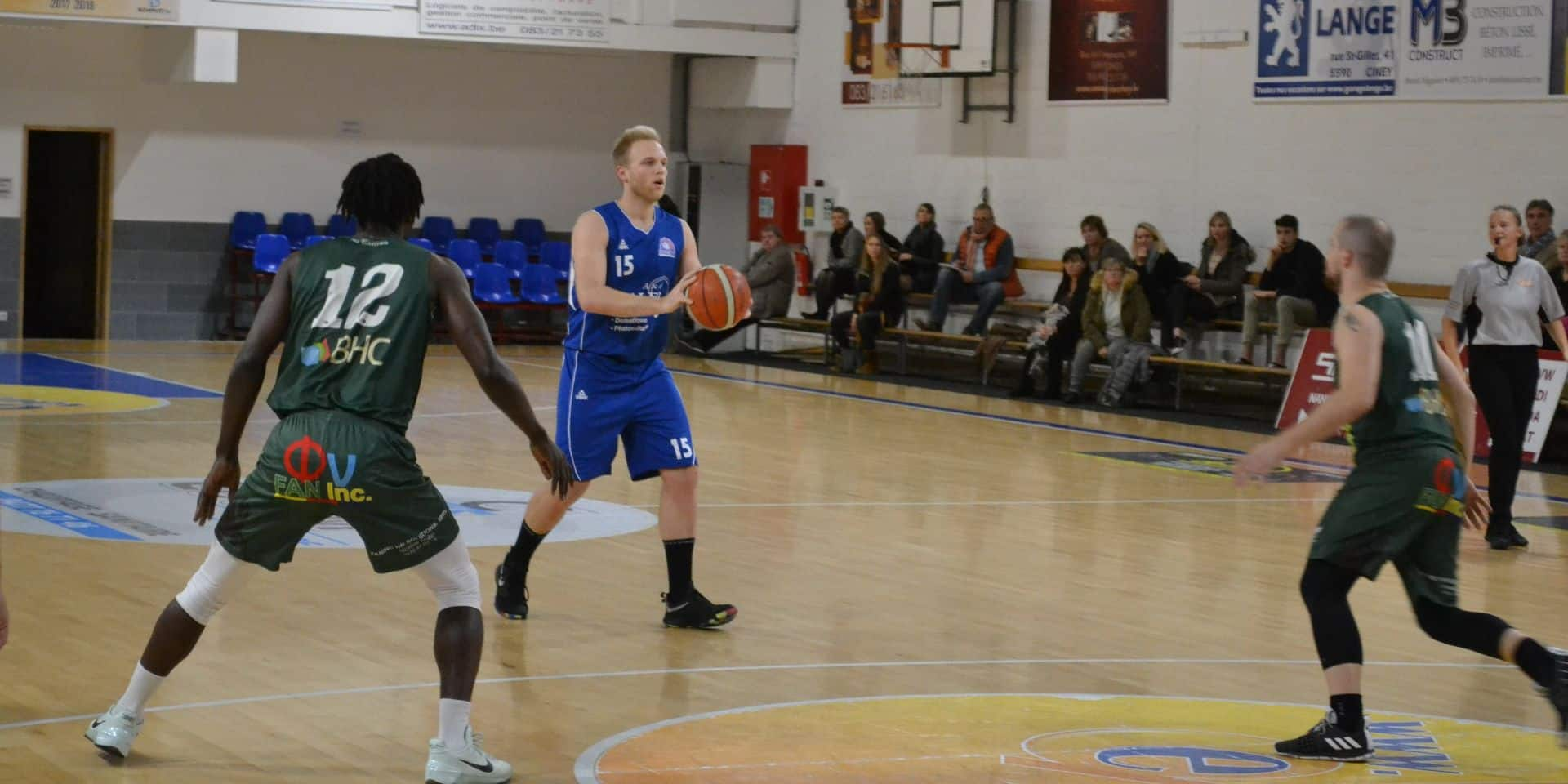 Basket-ball: Ciney (R1) s'impose grâce à un bon dernier quart temps face à Quaregnon