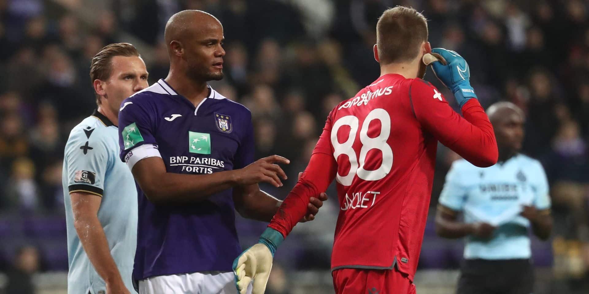 """Vincent Kompany après le Topper: """"Bruges a la meilleure équipe du championnat. Nous, on est l'équipe qui a le plus de marge de progression"""""""