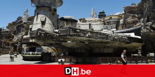 The Millennium Falcon starship structure is pictured during the Star Wars: Galaxy's Edge Media Preview at Disneyland Park, Wednesday, May 29, 2019, in Anaheim, Calif. (Photo by Chris Pizzello/Invision/AP)