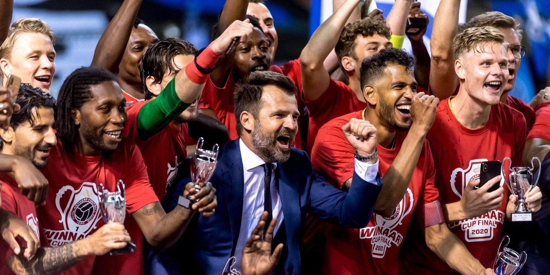 Vainqueur de la Coupe, l'Antwerp sera mis à l'honneur par la Ville d'Anvers