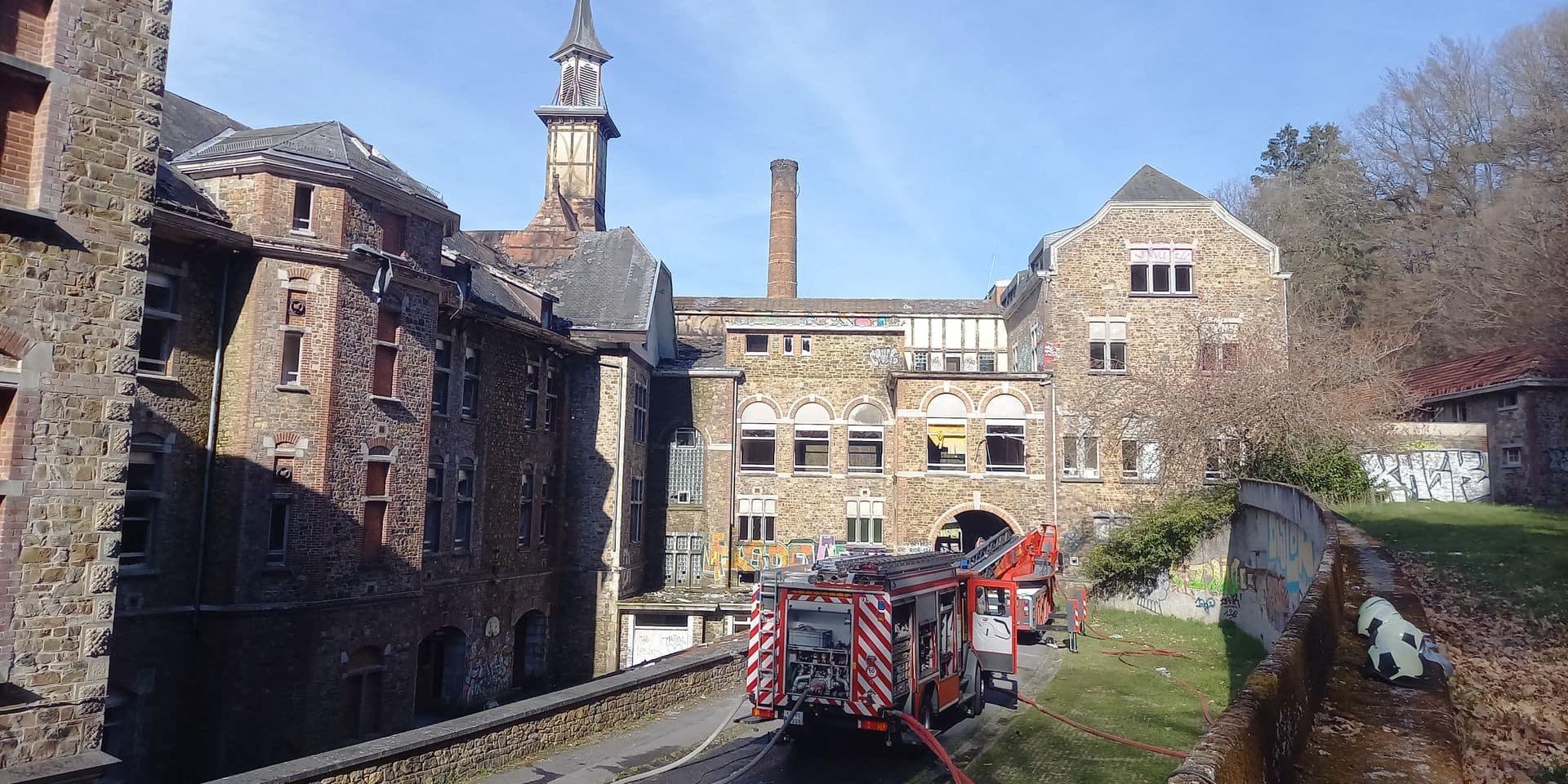 Stoumont : Incendie du sanatorium de Borgoumont