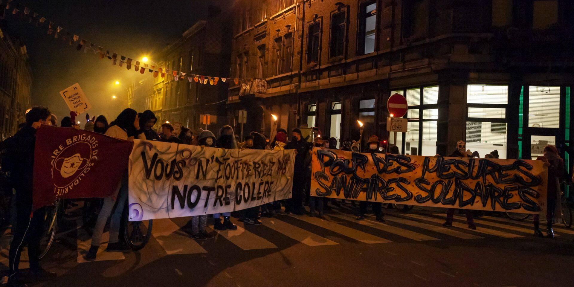 Manifestation contre le couvre-feu à Liège : déjà huit manifestants identifiés