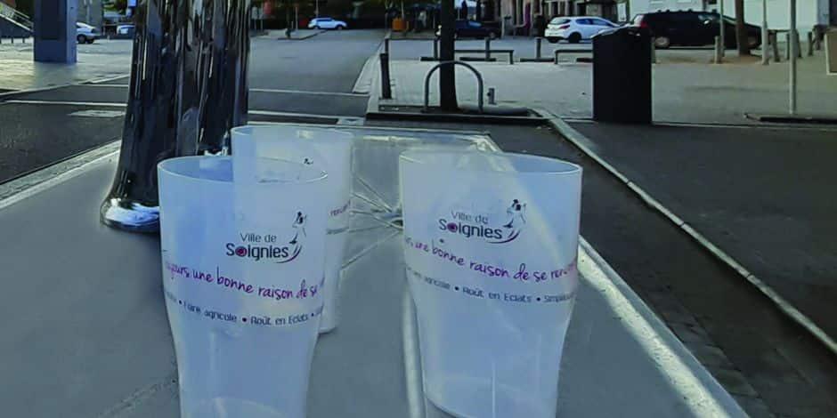 J'aime ma commune / Soignies : 20 000 gobelets proposés gratuitement