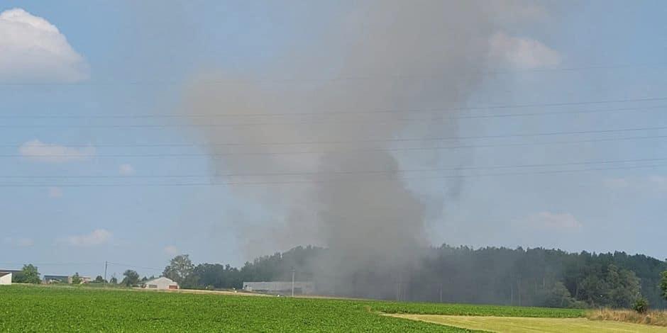 Incendie d'une entreprise de métaux à Chapelle-lez-Herlaimont : Le feu a été maîtrisé