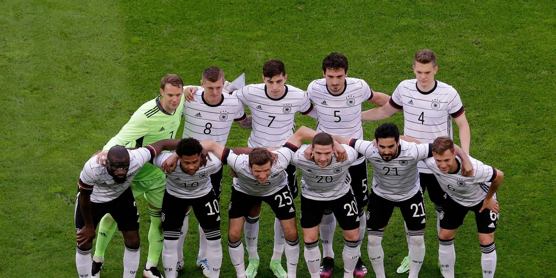 L'équipe allemande, prête pour le Championnat d'Europé de football.