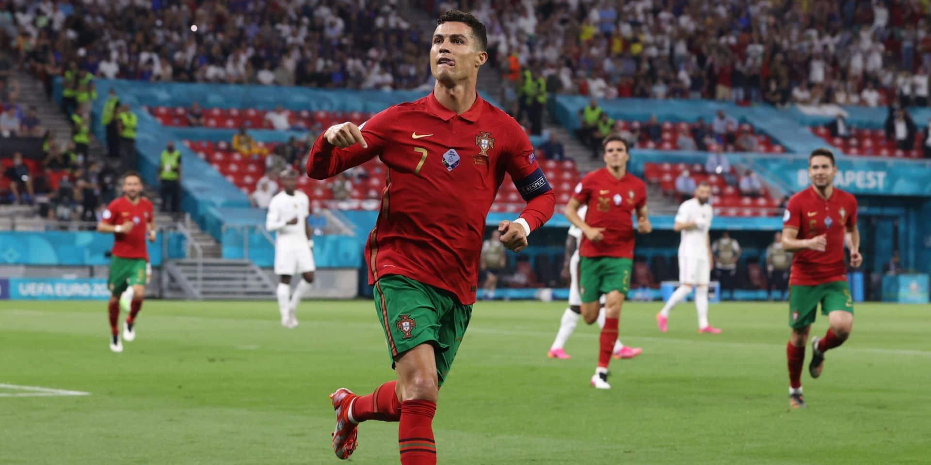 Cristiano Ronaldo est le meilleur buteur de l'Euro 2020: revivez ses cinq buts en vidéos!